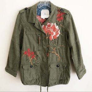 Anthropologie Hei Hei Embroidered Field Jacket XSP